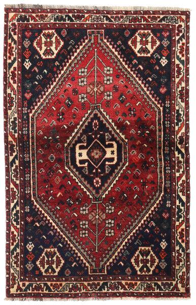 Shiraz Tapis 104X164 D'orient Fait Main Rouge Foncé/Marron Foncé (Laine, Perse/Iran)