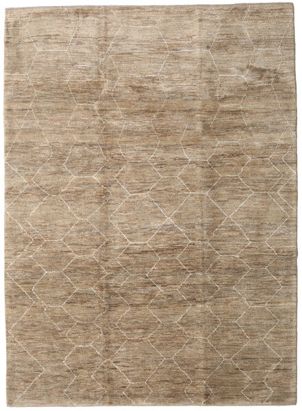 Loribaft Persan Tapis 218X298 Moderne Fait Main Gris Clair/Marron Clair (Laine, Perse/Iran)
