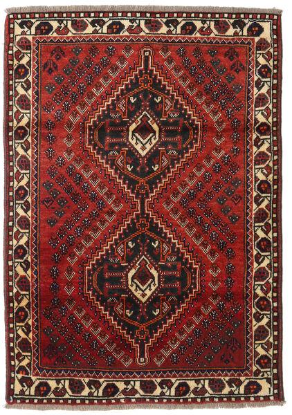Shiraz Tapis 111X161 D'orient Fait Main Rouge Foncé/Noir (Laine, Perse/Iran)