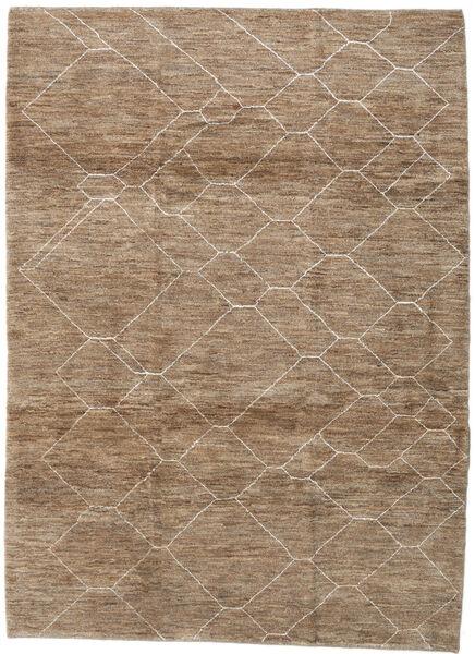 Loribaft Persan Tapis 215X295 Moderne Fait Main Marron/Gris Clair (Laine, Perse/Iran)