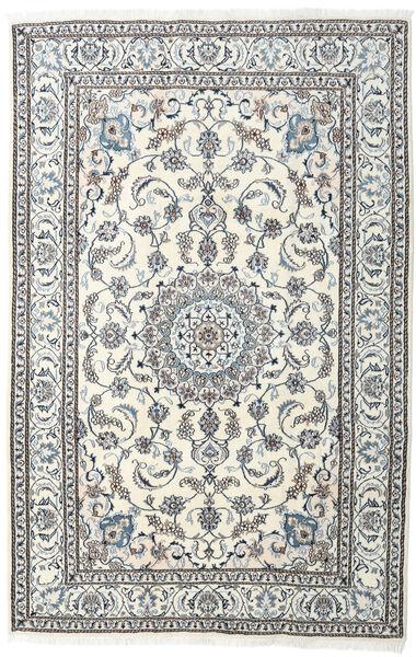 Naïn Tapis 198X304 D'orient Fait Main Gris Clair/Beige (Laine, Perse/Iran)