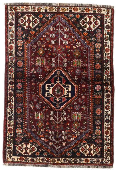 Ghashghaï Tapis 105X154 D'orient Fait Main Marron Foncé/Rouge Foncé (Laine, Perse/Iran)