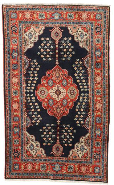 Kazak Tapis 120X194 D'orient Fait Main Bleu Foncé/Rouge Foncé (Laine, Afghanistan)