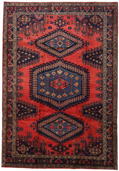 Wiss Tapis 221X320 D'orient Fait Main Rouge Foncé/Bleu Foncé (Laine, Perse/Iran)