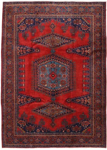Wiss Tapis 220X307 D'orient Fait Main Rouge Foncé/Noir (Laine, Perse/Iran)