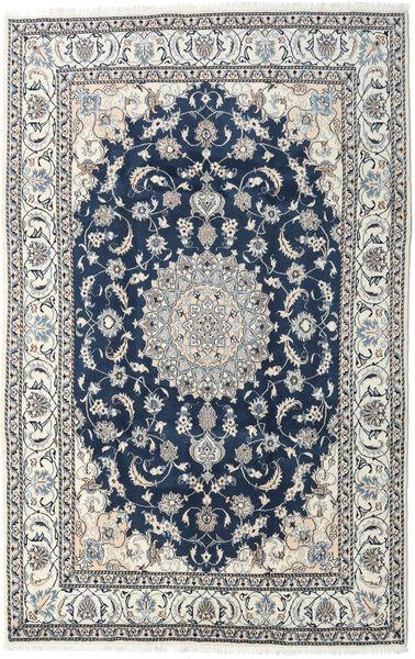 Naïn Tapis 194X300 D'orient Fait Main Gris Clair/Bleu Foncé (Laine, Perse/Iran)