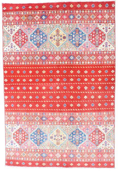 Kazak Tapis 121X180 D'orient Fait Main Rose Clair/Rouge (Laine, Afghanistan)