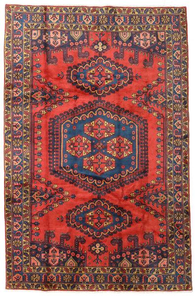 Wiss Tapis 208X319 D'orient Fait Main Rouge Foncé/Violet Foncé (Laine, Perse/Iran)
