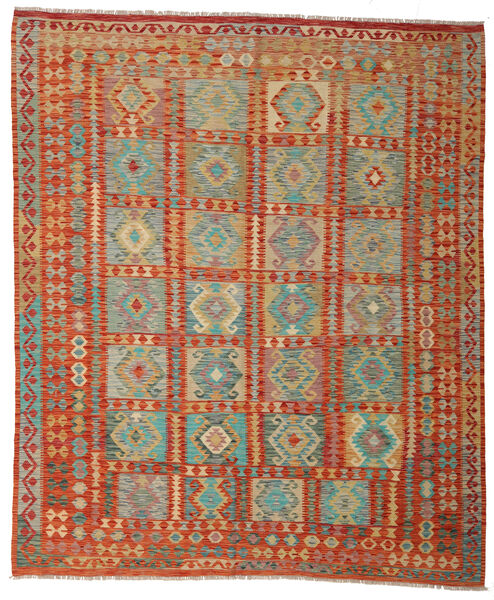 Kilim Afghan Old Style Tapis 252X299 D'orient Tissé À La Main Marron Clair/Orange Grand (Laine, Afghanistan)