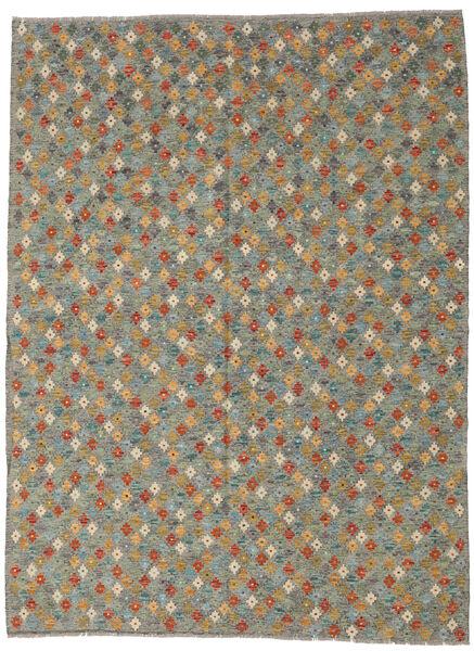 Kilim Afghan Old Style Tapis 208X291 D'orient Tissé À La Main Gris Foncé/Gris Clair (Laine, Afghanistan)