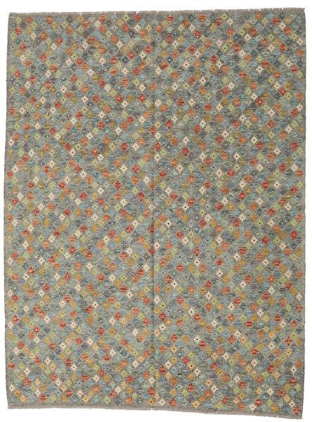 Kilim Afghan Old Style Tapis 214X283 D'orient Tissé À La Main Gris Foncé/Gris Clair (Laine, Afghanistan)
