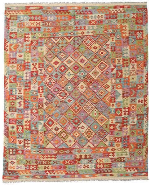 Kilim Afghan Old Style Tapis 252X310 D'orient Tissé À La Main Gris Clair/Rouge Foncé Grand (Laine, Afghanistan)