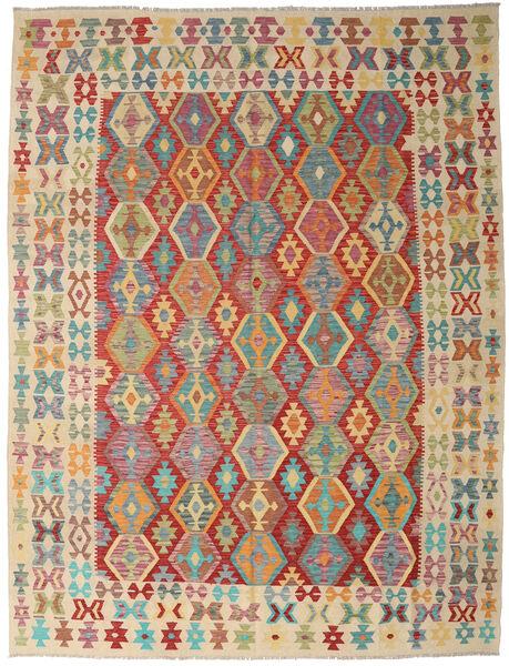 Kilim Afghan Old Style Tapis 261X342 D'orient Tissé À La Main Rouge Foncé/Marron Clair Grand (Laine, Afghanistan)