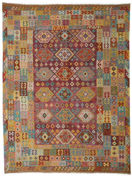 Kilim Afghan Old Style Tapis 265X347 D'orient Tissé À La Main Marron Foncé/Marron Clair Grand (Laine, Afghanistan)
