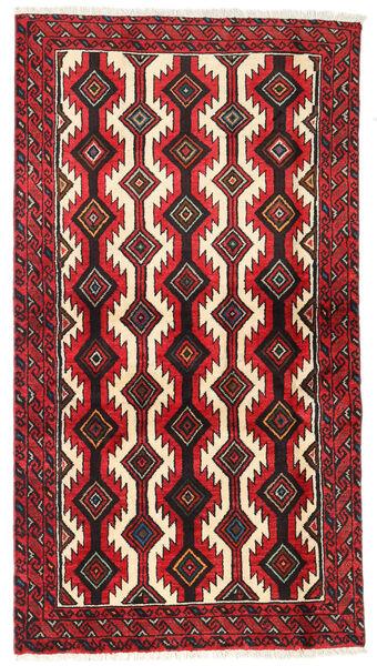 Baloutche Tapis 97X178 D'orient Fait Main Marron Foncé/Rouge (Laine, Perse/Iran)