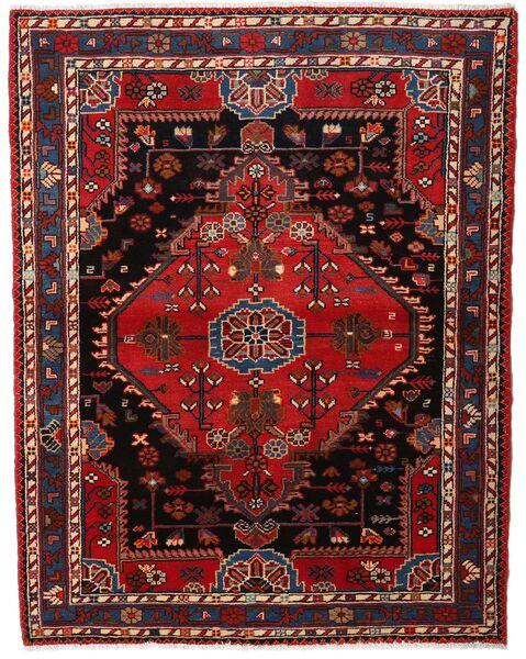 Hamadan Tapis 120X156 D'orient Fait Main Rouge Foncé/Marron Foncé (Laine, Perse/Iran)
