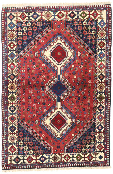 Yalameh Tapis 103X153 D'orient Fait Main Rouge Foncé/Gris Foncé (Laine, Perse/Iran)