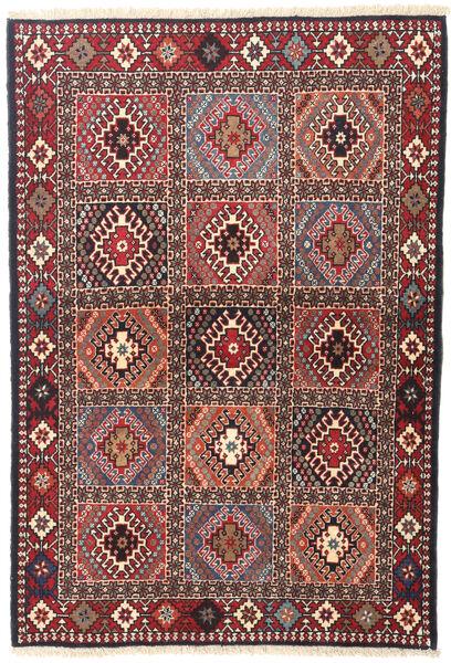 Yalameh Tapis 101X147 D'orient Fait Main Rouge Foncé/Beige (Laine, Perse/Iran)