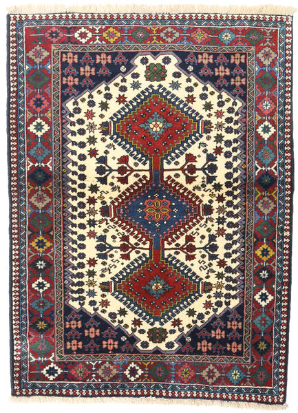 Yalameh Tapis 101X137 D'orient Fait Main Gris Foncé/Rouge Foncé (Laine, Perse/Iran)