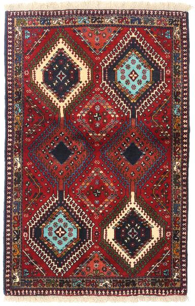 Yalameh Tapis 84X130 D'orient Fait Main Rouge Foncé/Marron Foncé (Laine, Perse/Iran)