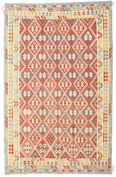 Kilim Afghan Old Style Tapis 235X364 D'orient Tissé À La Main Beige Foncé/Orange (Laine, Afghanistan)