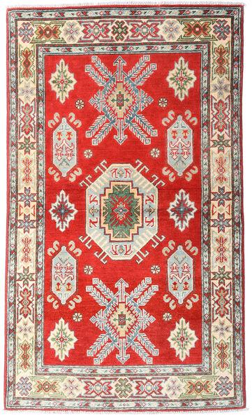 Kazak Tapis 92X159 D'orient Fait Main Beige/Gris Clair (Laine, Afghanistan)