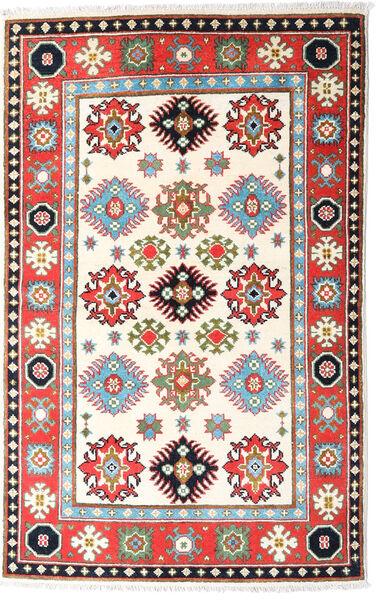 Kazak Tapis 94X149 D'orient Fait Main Beige/Gris Clair (Laine, Afghanistan)