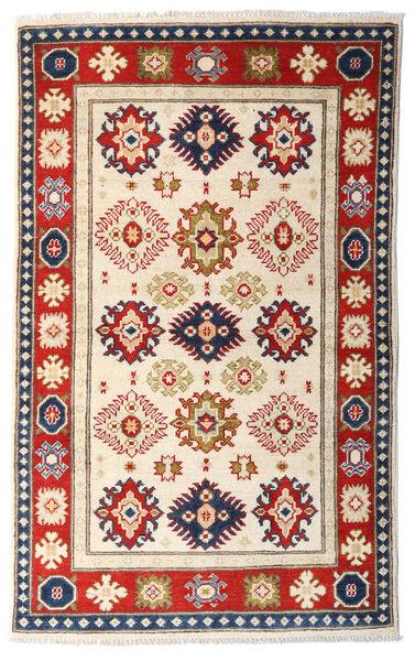 Kazak Tapis 95X154 D'orient Fait Main Beige/Marron Foncé (Laine, Afghanistan)