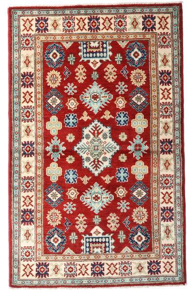 Kazak Tapis 93X152 D'orient Fait Main Rouge Foncé/Beige (Laine, Afghanistan)