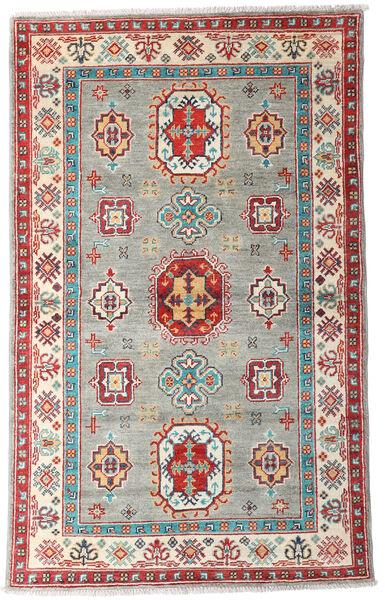 Kazak Tapis 96X155 D'orient Fait Main Gris Clair/Beige (Laine, Afghanistan)