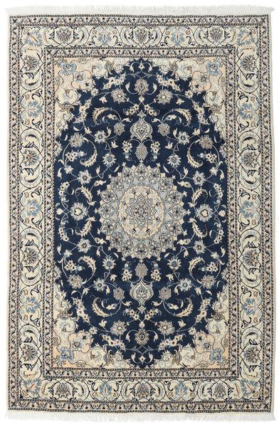 Naïn Tapis 196X296 D'orient Fait Main Bleu Foncé/Gris Clair (Laine, Perse/Iran)