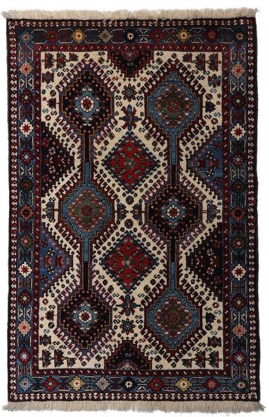 Yalameh Tapis 80X126 D'orient Fait Main Rouge Foncé/Gris Clair (Laine, Perse/Iran)