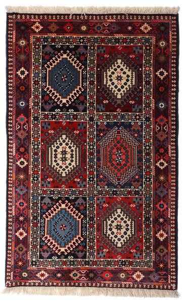 Yalameh Tapis 80X130 D'orient Fait Main Rouge Foncé (Laine, Perse/Iran)