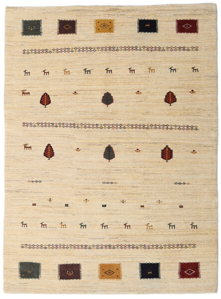 Loribaft Persan Tapis 150X205 Moderne Fait Main Beige/Marron Clair (Laine, Perse/Iran)