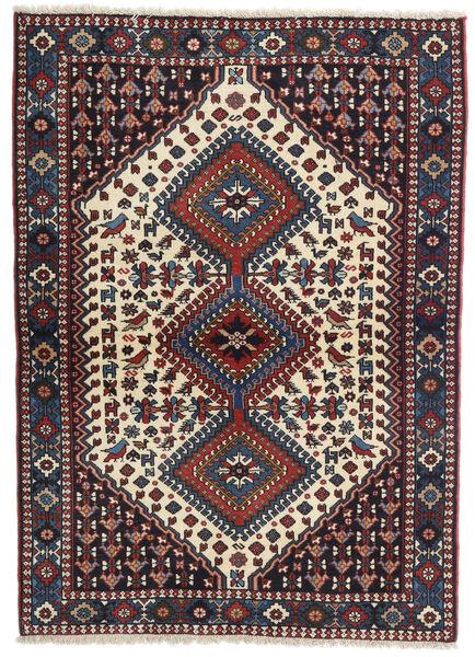 Yalameh Tapis 105X150 D'orient Fait Main Bleu Foncé/Violet Foncé (Laine, Perse/Iran)