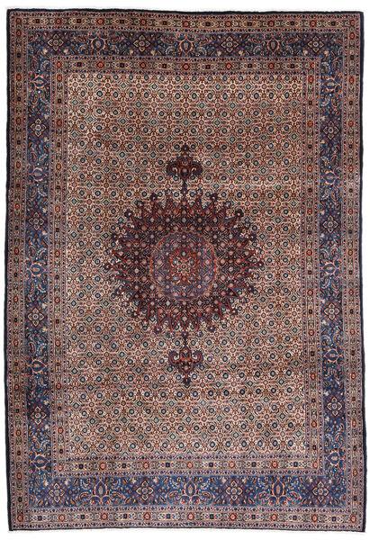 Moud Tapis 210X303 D'orient Fait Main Rouge Foncé/Violet Foncé (Laine/Soie, Perse/Iran)
