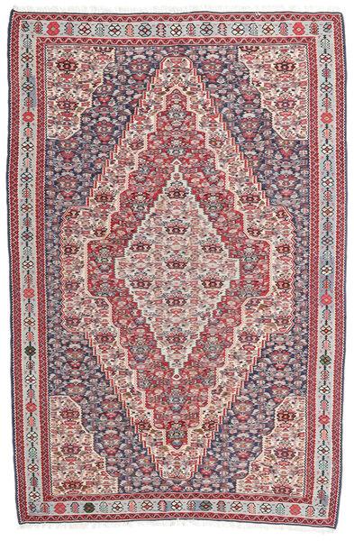 Kilim Senneh Tapis 148X225 D'orient Tissé À La Main Gris Foncé/Gris Clair (Laine, Perse/Iran)