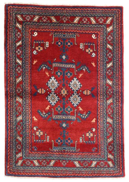 Loribaft Persan Tapis 116X168 Moderne Fait Main Rouge Foncé/Gris Foncé (Laine, Perse/Iran)