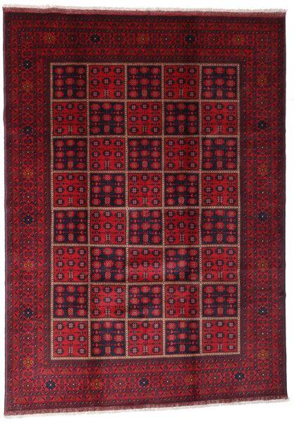 Afghan Khal Mohammadi Tapis 203X284 D'orient Fait Main Rouge Foncé (Laine, Afghanistan)