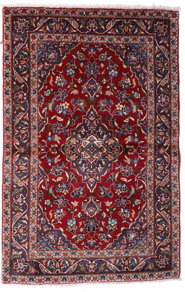 Kashan Tapis 97X150 D'orient Fait Main Rouge Foncé (Laine, Perse/Iran)