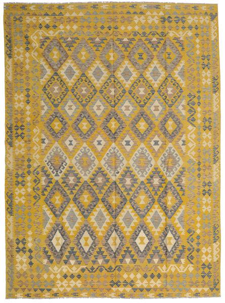 Kilim Afghan Old Style Tapis 255X358 D'orient Tissé À La Main Jaune/Marron Clair Grand (Laine, Afghanistan)