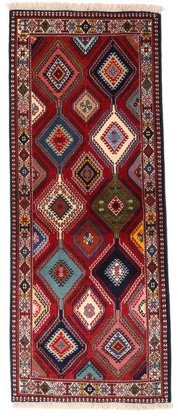 Yalameh Tapis 80X202 D'orient Fait Main Tapis Couloir Rouge Foncé (Laine, Perse/Iran)