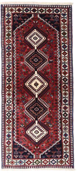 Yalameh Tapis 83X190 D'orient Fait Main Tapis Couloir Rouge Foncé (Laine, Perse/Iran)