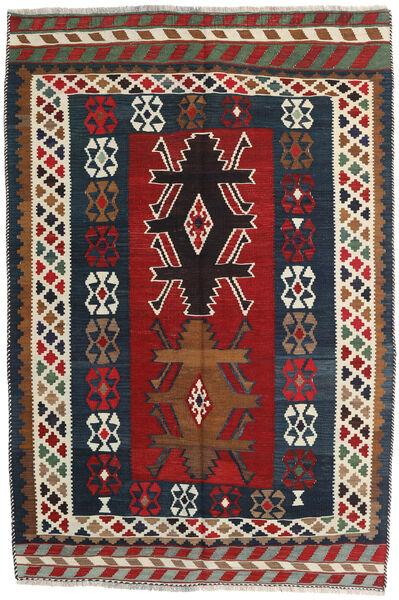 Kilim Vintage Tapis 141X213 D'orient Tissé À La Main Rouge Foncé/Gris Foncé (Laine, Perse/Iran)