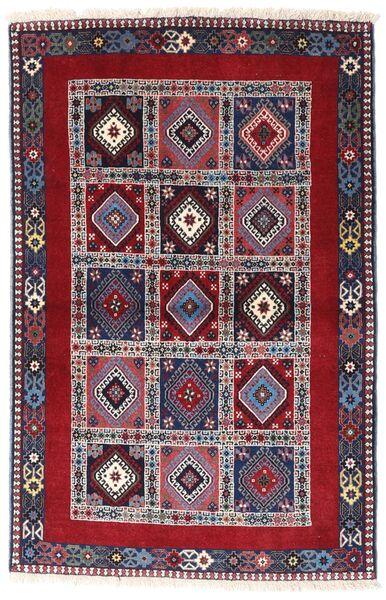 Yalameh Tapis 102X157 D'orient Fait Main Violet Foncé/Rouge Foncé (Laine, Perse/Iran)