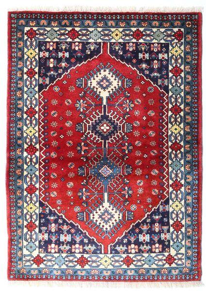 Yalameh Tapis 103X143 D'orient Fait Main Violet Foncé/Rouge Foncé (Laine, Perse/Iran)