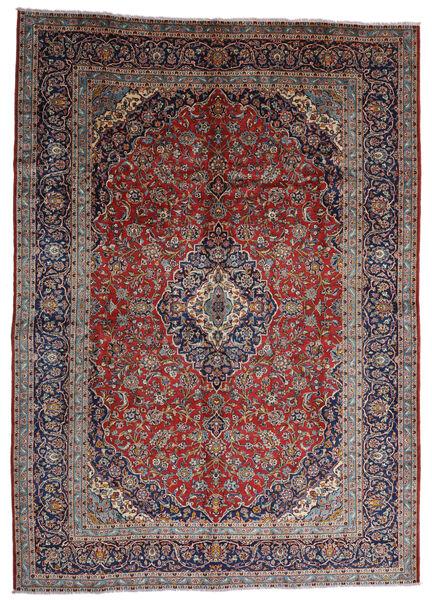 Kashan Tapis 287X403 D'orient Fait Main Rouge Foncé/Marron Foncé Grand (Laine, Perse/Iran)