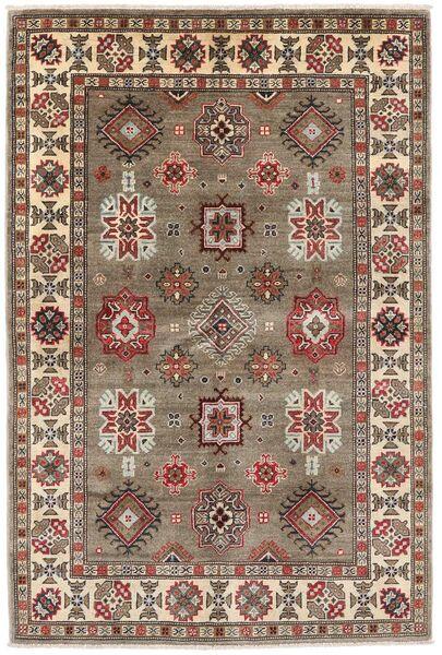 Kazak Tapis 121X181 D'orient Fait Main Gris Clair/Marron Clair (Laine, Afghanistan)