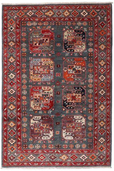 Kazak Tapis 117X173 D'orient Fait Main Rouge Foncé/Marron Foncé (Laine, Afghanistan)