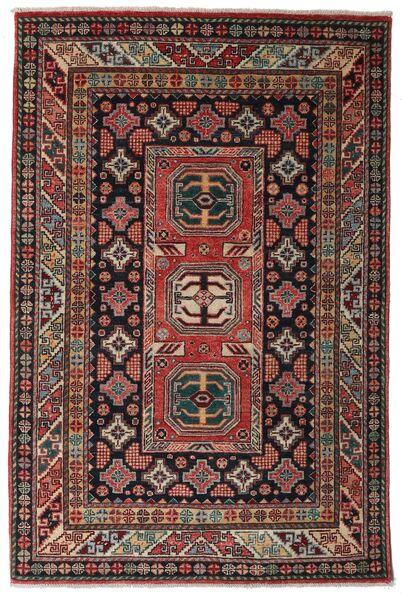 Kazak Tapis 118X177 D'orient Fait Main Rouge Foncé/Marron Foncé (Laine, Afghanistan)